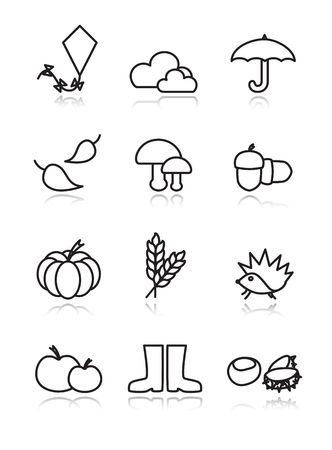 Autumn black icons