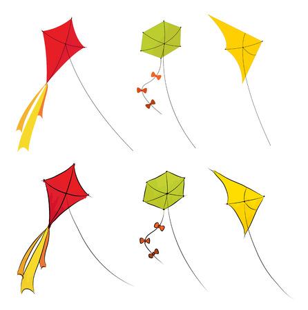 Kites set illustration Illustration