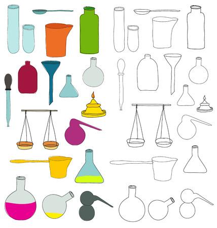 Alchemy equipment drawing Illustration