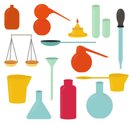 apothecary: Alchemy equipment vector set