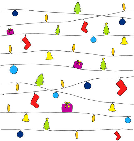 Christmas vector lines background Vector