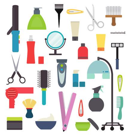 Isolated hairdresser equipment Illustration