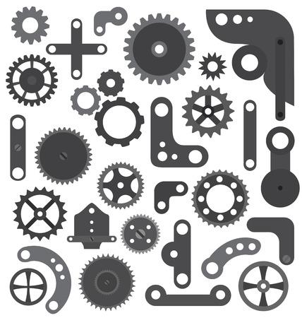 engranajes: Las partes de la m�quina o robot aisladas
