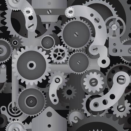 maschinenteile: Technisches Konzept Maschinenteile nahtlose Muster