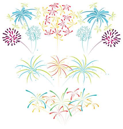 Fireworks illustration celebration new year