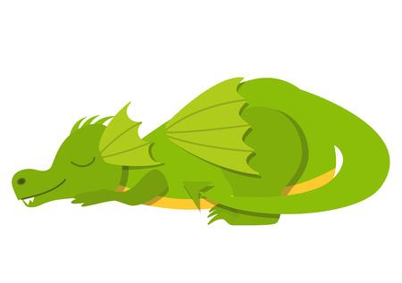 Sleeping dragon illustration