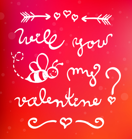 Funny valentine card - will you bee my valentine