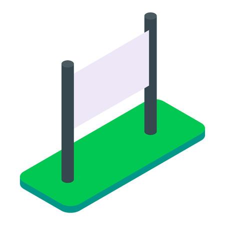 Blank isometric outdoor billboard vector illustration