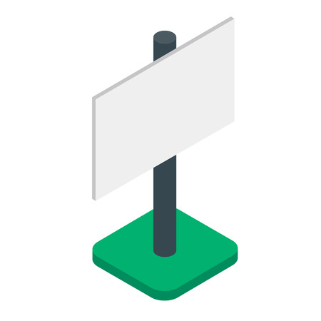 Blank banner or billboard isometric isolated vector