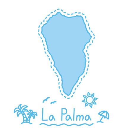 La Palma island map isolated cartography concept canary islands vector Ilustração