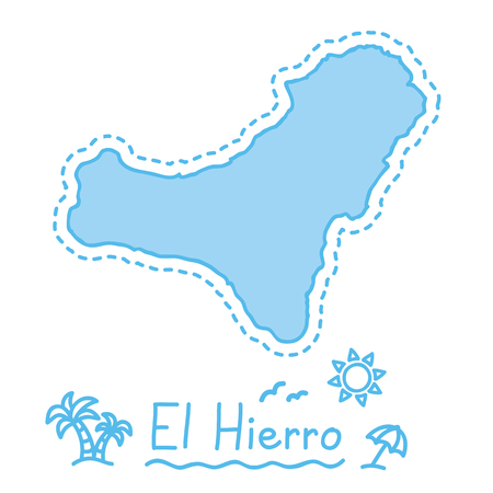 El Hierro island map isolated cartography concept canary islands vector Stock fotó