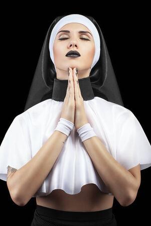 frank prayer nuns with eyes closed