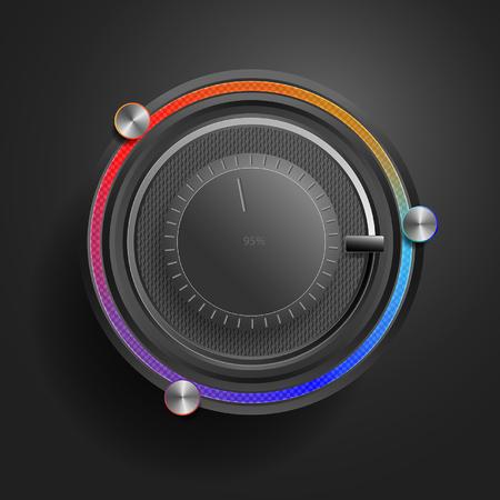 Color mixer panel.  App technology.  Editor color schemes.  Black Edition Stock Vector - 29298908