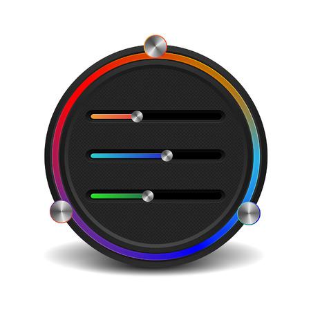 Color mixer panel. App technology. Editor color schemes. Stock Vector - 29298912