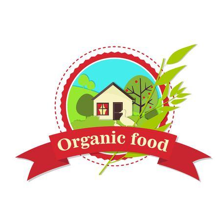 Organic food signage design.