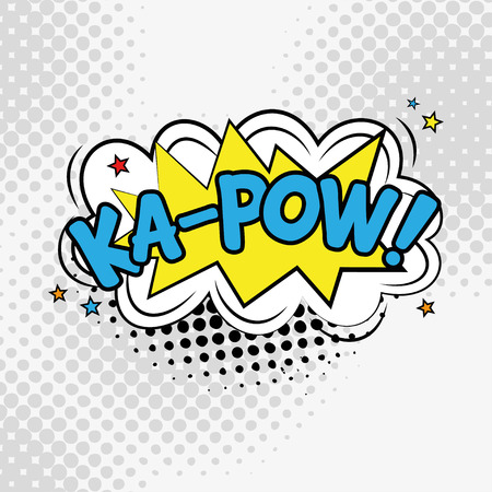 KA POW comic text in pop art style illustration.