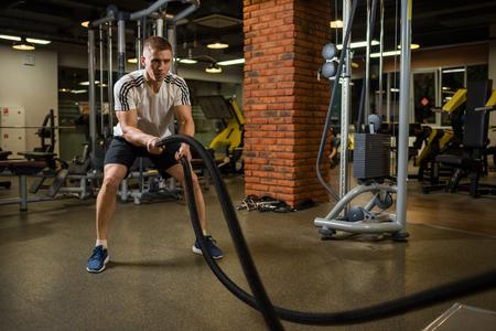 Athletic muscular man Standard-Bild