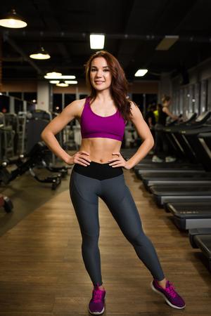 Sports treadmills in sportswear.