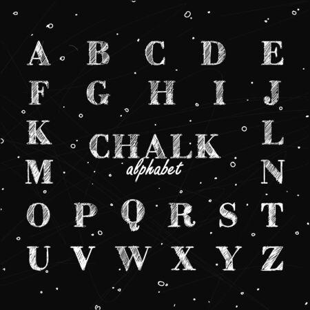 Full alphabet on blackboard.