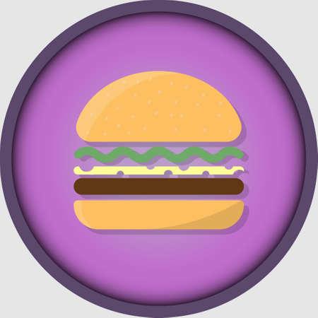 Burger icon for stories in social networks. Food, food, healthy food. Ilustração