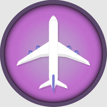 Airplane icon for stories in social networks. Travel, adventure, trip.
