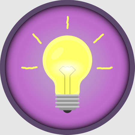 Bulb icon for stories in social networks. New idea, eureka, lamp. Ilustração