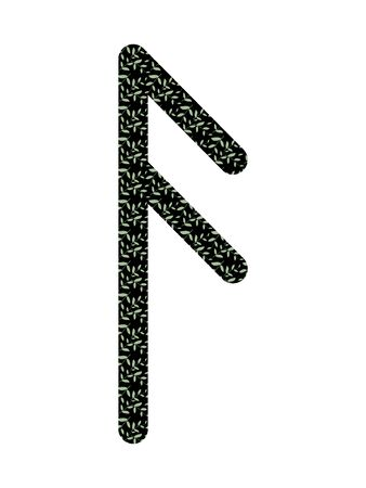 Ansuz. Ancient Old Norse rune Futhark . Used in magic scripts, amulets, fortune telling. Scandinavian and Germanic writing.