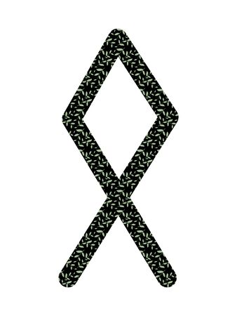 Othila. Ancient Scandinavian runes Futhark. Used in magical scripts, amulets, fortune telling. Scandinavian and Germanic writing.