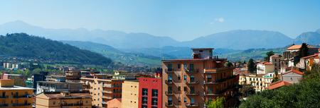 Benevento vista sulla città. Centro urbano Archivio Fotografico - 75695384