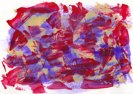Abstract painting color texture, acrylic color background, knife texture, red, magenta, purple. Self made Stock Photo