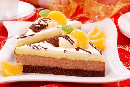 three layers marshmallow cake Stock Photo - 6042572