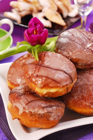 donuts with icing for party Stock Photo - 6330239