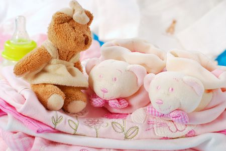 layette for newborn baby girl Stock Photo - 6452496