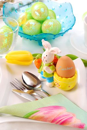 table decoration for easter time Stock Photo - 6585339