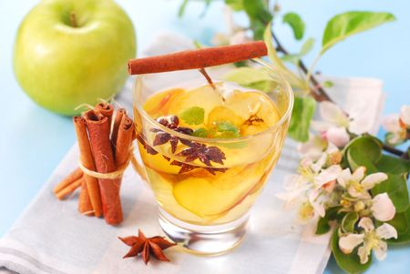 apple compote with cinnamon and anise stars photo