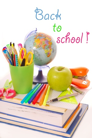 brusch: basic equipping the pupil for the beginning of the school year Stock Photo