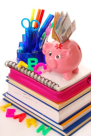 high costs for equipping the pupil at the beginning of  the school year photo