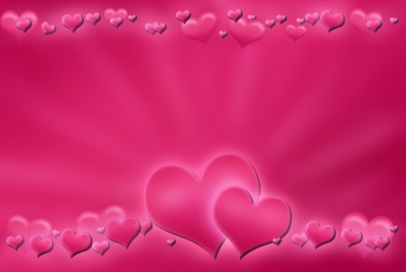 pink valentine`s background with hearts photo