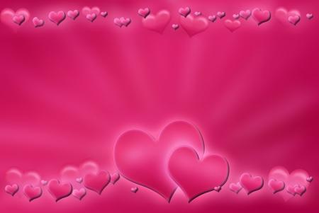 sfondo rosa Valentine `s con il cuore
