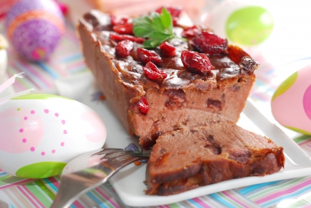 pate: baked goose pate with cranberries for easter
