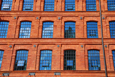hotel building: old historic brick factory building in Lodz revitalized as hotel