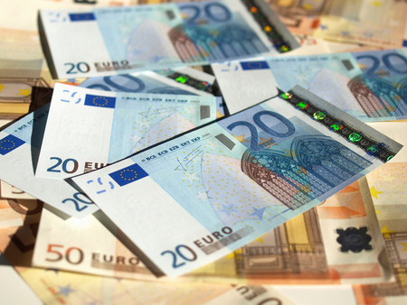 Euro banknote (currency of the European Union) - selective focus