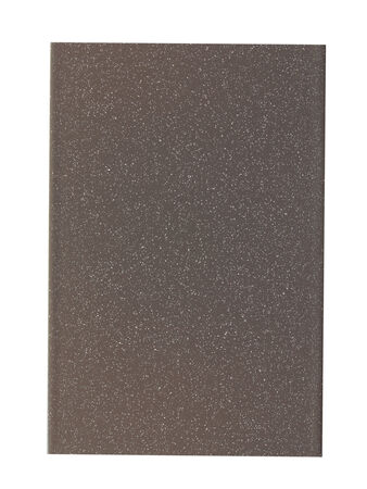 Gray painted metal sample isolated over white  photo