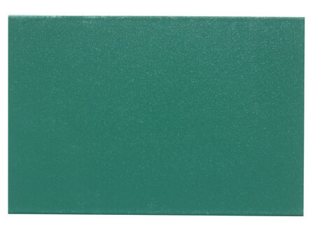 Green painted metal sample isolated over white background photo