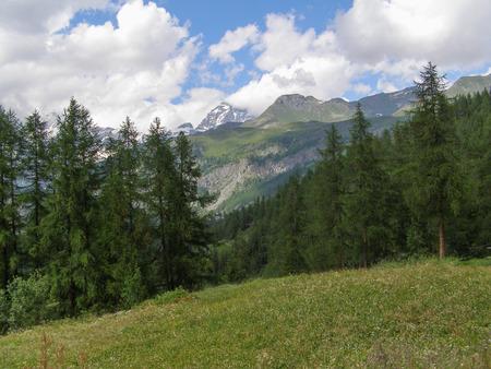 aosta: Aosta Valley mountains in Cervinia in Italy