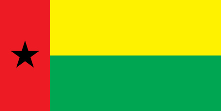 bissau: The national flag of the country of Guinea Bissau