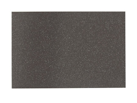 Gray painted metal sample isolated over white background photo