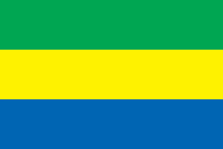 gabon: The national flag of the country of Gabon