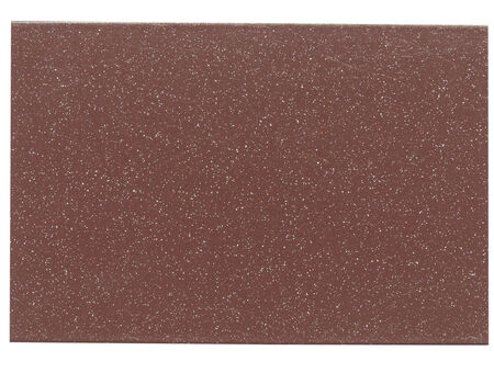 Brown painted metal sample isolated over white background photo