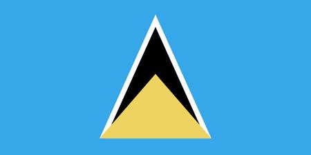 セントルシア国の国旗 写真素材